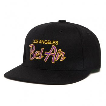 HOOD HAT Bel Air Laker キャップ Snapback Black ブラック CAP