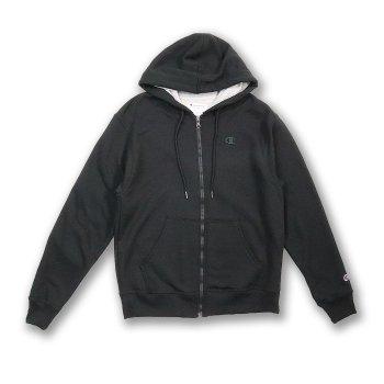 チャンピオン Champion Men's Powerblend Fleece Full Zip Jacket パーカー BLK ブラック PARKER