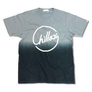 Chillax Gradation Logo Tee Gray/Black