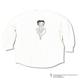 Chillax× BETTY BOOP(TM) Over size Long T (White)