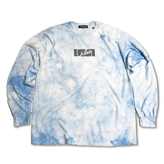 Chillax Tie dye Over size Long T (Blue)