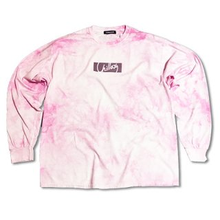 Chillax Tie dye Over size Long T (Pink)