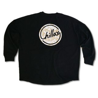 Chillax Botanical Circle Logo Over size Long T (Black)