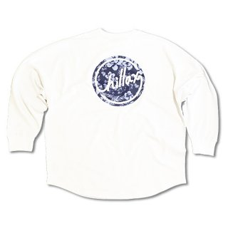 Chillax Botanical Circle Logo Over size Long T (White)
