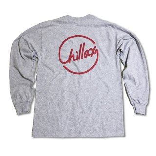 Chillax Circle Logo  Pocket Long T (Gray)