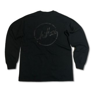 Chillax Circle Logo  Pocket Long T (Black)