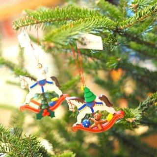 【クリスマス】木馬のオーナメント
