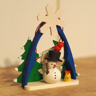 【クリスマス】オーナメント スノーマンと雪の結晶