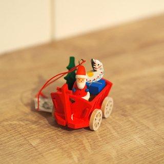 【クリスマス】ウルブレヒト工房 オーナメント ワゴンの中のクリスマス
