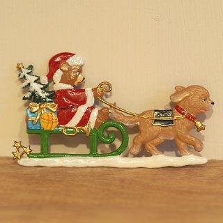 【クリスマス】WSすず細工 犬ぞりのくま