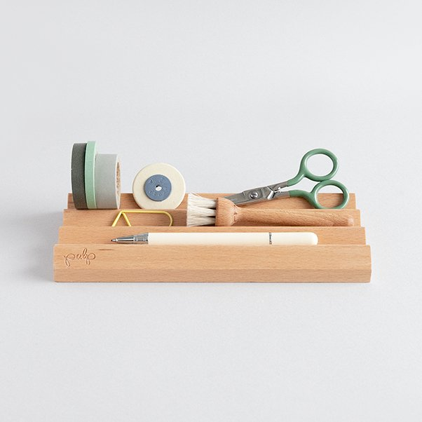 WOOD DESK ORGANIZER