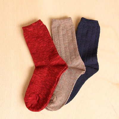 Cotton mix Slab Socks(22〜24cm)YUiNO