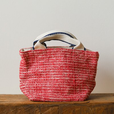 Suno&Morrison Gara-bou×Canvas Small Tote (Cherry)