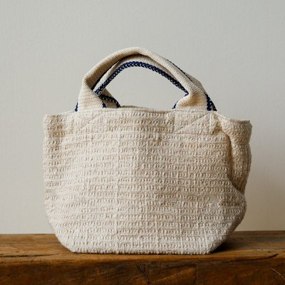 Suno&Morrison Gara-bou×Canvas Small Tote (ivory)