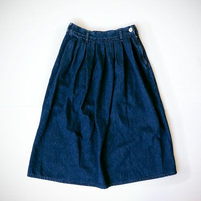 Denim Pleated Skirt  -YUiNO-
