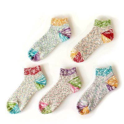 Slab Ripple Short Picot Socks (23〜25cm) -Mauna Kea-