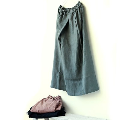 <img class='new_mark_img1' src='//img.shop-pro.jp/img/new/icons20.gif' style='border:none;display:inline;margin:0px;padding:0px;width:auto;' />Lithuania Linen Wrap Pants - YUiNO-