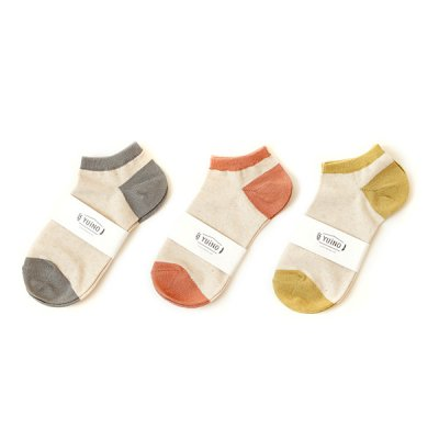 Cotton&Linen Ankle Socks -YUiNO-