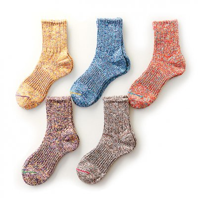 6 Color Twister Socks (23〜25cm) -Mauna Kea-