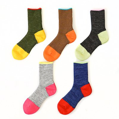 Multi-Color Wool Socks -Mauna Kea-