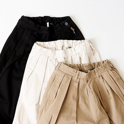 <img class='new_mark_img1' src='//img.shop-pro.jp/img/new/icons14.gif' style='border:none;display:inline;margin:0px;padding:0px;width:auto;' />Strech Chino Pleated Pants  -YUiNO-