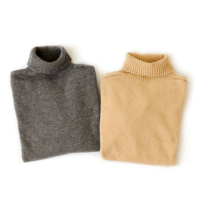 Wholegarment Wool  Turtle Neck Knit Wear  -YUiNO-
