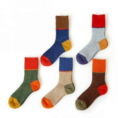 Multi-Color Tam Wool Socks -Mauna Kea-
