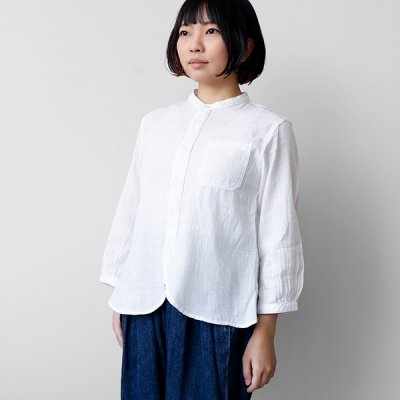 播州織  7分袖 Work Shirts -YUiNO-