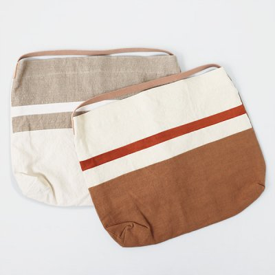 French Linen Suede Mix Bag(M) -ARTE POVERA-