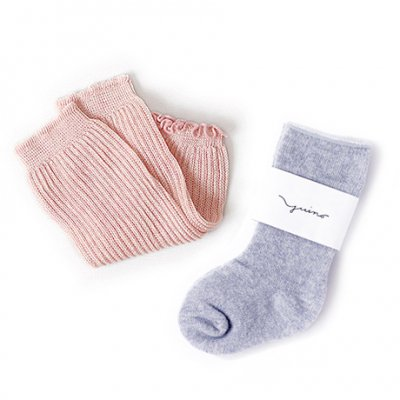 Organic cotton botanical dye Socks & Leg(9〜11cm)-YUiNO-