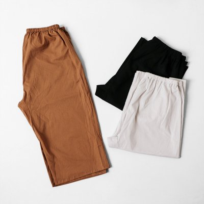 Cotton Loan Washer Wide Pants -YUiNO-
