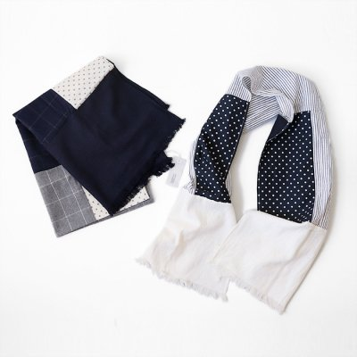 <img class='new_mark_img1' src='https://img.shop-pro.jp/img/new/icons14.gif' style='border:none;display:inline;margin:0px;padding:0px;width:auto;' />起毛Stripe Panel Stole -NATURAL LAUNDRY-