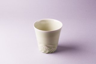 緑釉鎬(しのぎ)カップ1