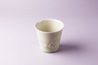 緑釉鎬(しのぎ)カップ2