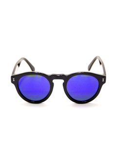 illesteva / LEONARD BLK/BLUE MIRRORED LENSES