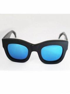 illesteva  HAMILTON BLACK/BLUE MIRRORED LENSES