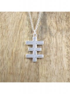 LOVE JESSE DESIGNS / SILVER PSYCHIC CROSS NECKLACE