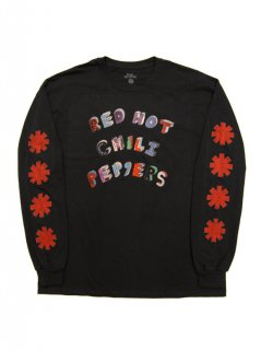 RED HOT CHILI PEPPERS / CARTOON TEXT LS