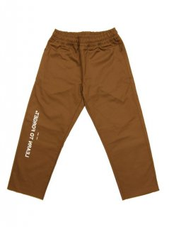 LEARN TO FORGET / LOGO CHINO PANTS (BROWN)