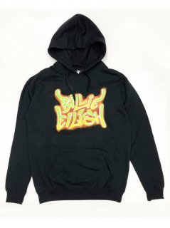 BILLIE EILISH / AIRBRUSH FLAMES HOODIE(2XL)