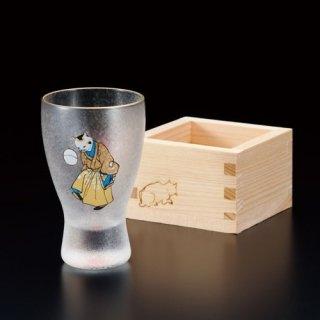 江戸猫ぐらす 手まりねこ/枡酒グラス