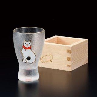 江戸猫ぐらす ねこ/枡酒グラス