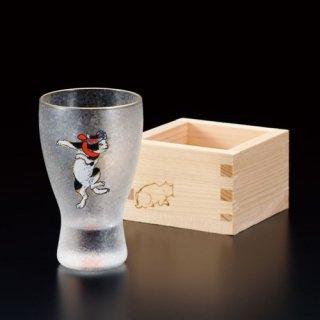 江戸猫ぐらす はちまきねこ/枡酒グラス