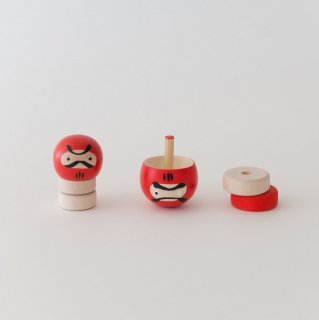 両目だるま(逆立ちコマ) /飾りコマ