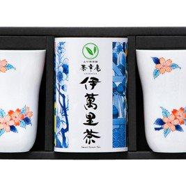 伊万里焼と伊萬里茶詰合せ /ペアフリーカップ【桜】