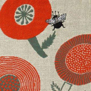 花とクマンバチ/morita MiW/ 3重織りガーゼハンカチ