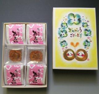 味覚庵 紀の和み ごあいさつシリーズ「おめでとうございます」6粒 /紀州みなべ 南高梅