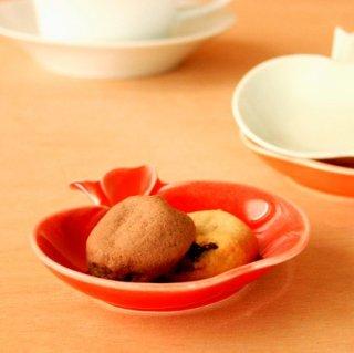 apple リンゴ小皿 赤red / miyama
