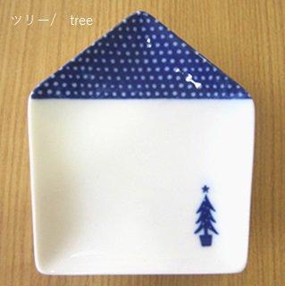 ie 小皿 ツリー/tree 白磁 / miyama