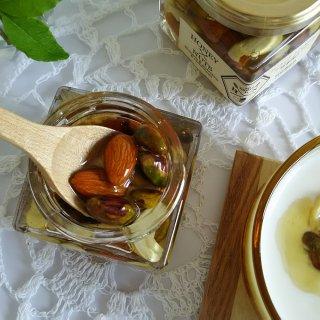 アーモンド・ピスタチオ・カシューナッツの蜂蜜漬け/66832むろうはちみつ ハニーナッツ